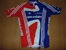 ADIDAS SKY GO RIDE BRITISH 1/4 zip cycling racing jersey, Large mens