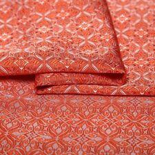 Brocade Fabric Imitated Silk Jacquard Tapestry Modern Flower Upholstery 75*100cm