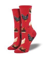 Chicken Hen House Socks Rooster Animals Shoe Size 6-12 Novelty Sock