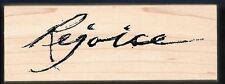 REJOICE Religious Word Easter Large ART IMPRESSIONS I-2001 craft RUBBER STAMP