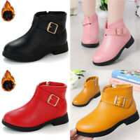 Fashion Girls Winter Fur Warm Martin Boots Kids Snow Boots Non-slip Thick Shoes