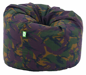 Large Adult Size Army Camo Camouflage Green Bean Bag Gaming Seat With Beans