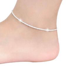 Hemp Rope Women Girls Nice Silver Chain Ankle Bracelet Sandal Beach Foot Jewelry