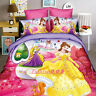 Princess for Girls Single Size Bed Quilt Doona Duvet Cover Set Bed Pillow Case