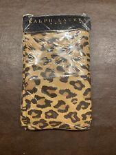 New Ralph Lauren Aragon Neutral Guinevere Leopard 2 Standard Pillowcases