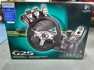 LOGITECH G25 RACING WHEEL WITH PEDALS & SHIFTER, EXCELLENT CONDITION!