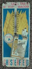 Vintage CHESTERFIELD CIGARETTES Advertising THERMOMETER EMBOSSED Pawn Stars