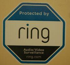 WARNING, Ring Doorbell ALERT SECURITY SURVEILLANCE STICKER video camera