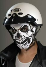 Skull Rider Mask Skeleton Biker Fancy Dress Halloween Adult Costume Accessory
