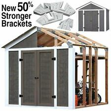 EZ Shed 3 Size Easy Assembly Bracket Framer 7 X 8 FT DIY Framing Kit Peak Style