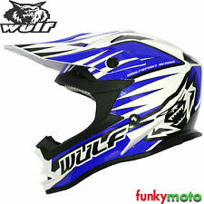 Wulfsport Adulto Mx Advance Casco Azul Enduro Motocross Dirtbike quadbike Atv