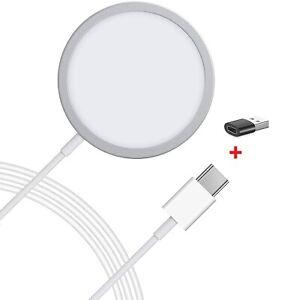 kompatibel Apple MagSafe Charger Kabelloses Ladegerät 15W iPhone 12 Pro Mini Max