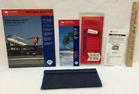 Northwest Airlines DC-9 Safety Pamphlet Ticket Holder Pouch Flight Schedule Lot