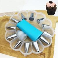 14pcs Icing Piping Cream Pastry Bag + Nozzle Set DIY Cake Decorating Baking Tool