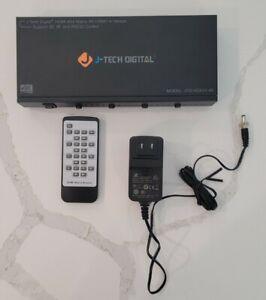 4x4 HDMI MATRIX / SWITCH   J-tech Digital Jtd-hd4x4-4k