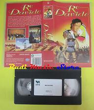 VHS film RE DAVIDE CVC STLC5156 90 minuti MONDO TV animazione (F81) no dvd