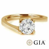 Diamant Ring Solitär 0,50 Ct. Brillant IF D 750 18K Gelbgold + GIA Zertifikat