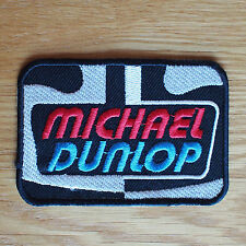 Motorcycle Biker Cloth Patch Leathers Vest Denim Isle Of Man TT Michael Dunlop