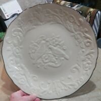 Beautiful Large Lenox China Anniversary Round Platter Plate w Lovebirds