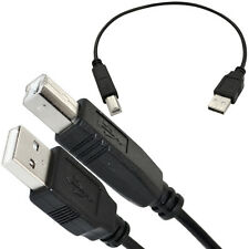 1FT/30CM USB 2.0 A Male Plug to B Male LEXMARK EPSON Data Printer Leads Cable