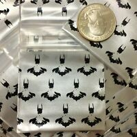 "3 MIL 1515 1.5/"" X 1.5/"" 100 MINI ZIPLOCK DESIGN BAG Batman Silhouette PEARL RED"