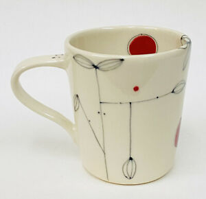 Chanda S. Beck EZME Designs LILLIA Abstract Hand Thrown Artist Pottery Mug