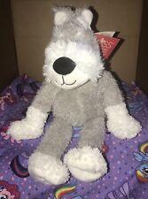 Schnauzer Dog Plush Russ Gray White Sitting Puppy New With Tags