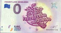 BILLET 0 EURO FREIZEIT LAND GEISEWIND ALLEMAGNE NUMERO DIVERS
