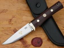 Fällkniven Jagdmesser TK1mm - Tre Kronor de Luxe Knife, Maroon Micarta