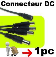 636/1# Câble alimentation DC  1 femelle vers 4 mâles ruban LED - caméra - 1pc
