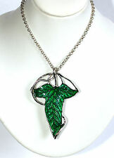 Elven Leaf Brooch Pin Necklace Pendant LOTR Hobbit Legolas Aragon Lord Ring