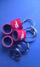 Silicone Hose 48mm Fluro Lined Bike Carb Fitting Kit RED