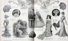 Album relié Fémina 1901 - Du n°1 au n°22 - Mode Groult - Manteaux du soir -