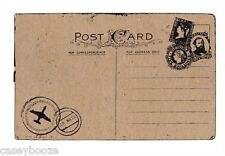 Clear Rubber Stamps - Vintage Postcard - 1112 - New Release - New In