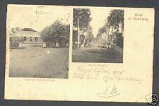 Bandoeng Bandung 2 views Java Indonesia with stamp 1899