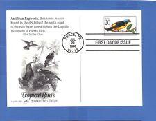FDC POSTCARD TROPICAL BIRDS BIRDWATCHER'S DELIGHT ANTILLEAN EUPHONIA