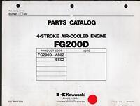 KAWASAKI FG200D  4 STROKE AIR COOLED ENGINE PARTS MANUAL P/N 99910-2324