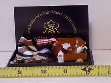 Shoe Shine Set Reutter Porcelain Germany Polish Brush Wax Dollhouse Miniatures