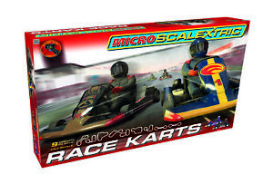 Micro Scalextric Race Karts Set - G1120M - EX DISPLAY Scuffed Packaging