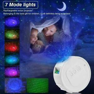 LED Galaxy Projector Starry Night USB 3 Projection Lamp Star Nebula Night Light