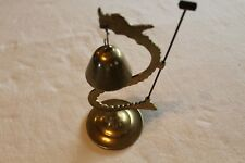 Vintage Brass Dragon Bell & Hammer  Asian Chinese Etched Sculpture Gong Bell