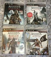 PS3 Game Lot ; Assassin's Creed III; Revelations, Rogue, IV Black Flag