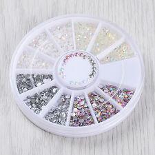 1 Box Colorful Jelly Resin 3D Nail Art Flatback Rhinestone Gems DIY Manicure