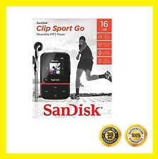 SanDisk 16GB Clip Sport Go MP3 Player, Red - LED Screen and FM Radio