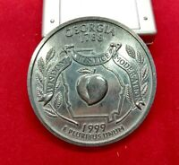 Large 3 Inch Novelty Coin/Coaster/Paperweight 1999 Georgia State Quarter Design