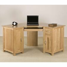 Clifton Solid Oak Furniture Corner Office PC Computer Desk