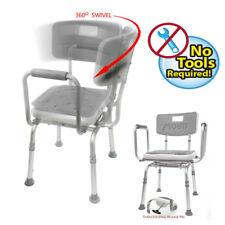 MOBB - Shower Chair SWIVEL PADDED Seat  Adjustable Bath Seat - Lightweight