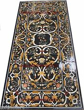 "Grand Pietra Dura Marble Inlay Dining Table Top ""Art of Royal Court"" Furniture"