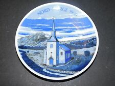 PORSGRUND PORCELAIN NORD-NORGE COLLECTORS PLATE 1980 NORTH OF NORWAY LTD EDITION