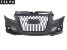 Audi A3 8P 2009-2013 RS Style Front Bumper with Black Grille & Fog Lamps